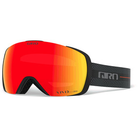 Giro Contact Gafas, black techline/vivid ember/vivid infrared